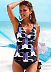 Retro Print Underwired Tankini