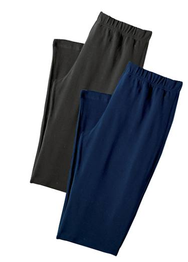 Pack of 2 Elacsticated Capri Pants