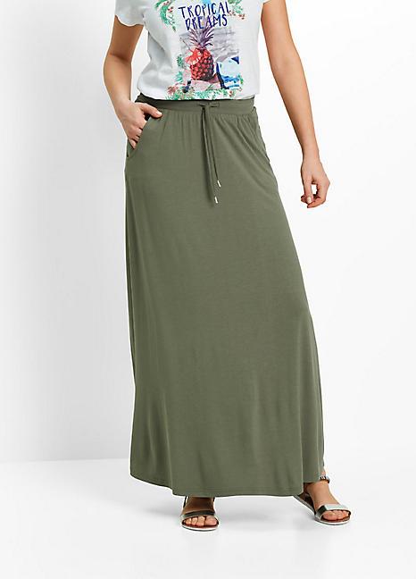 jersey maxi skirt by bonprix curvissa