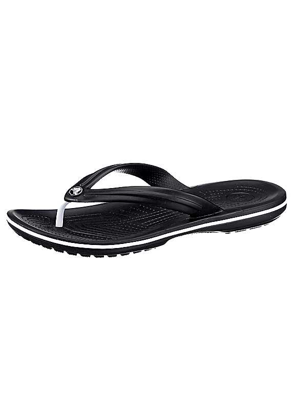 Plus Size Crocs Toe Post Sandals in Black size 8