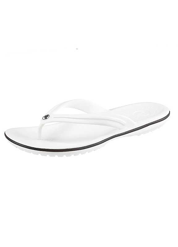 Plus Size Crocs Toe Post Sandals in White size 6