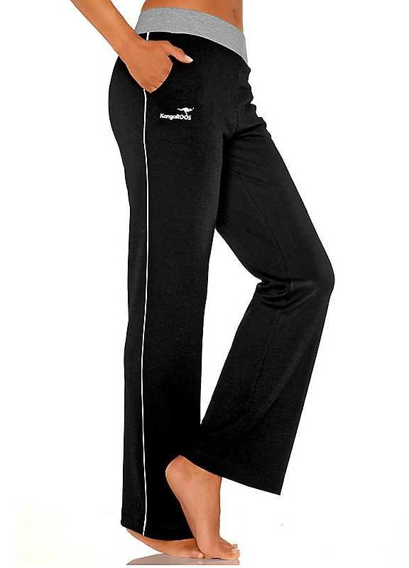 Plus Size KangaROOS Sweatpants in Black size 2628