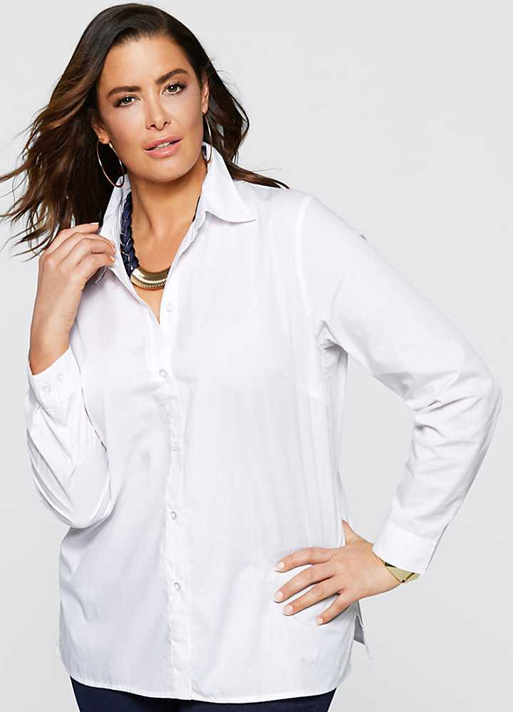 Plus Size Office Blouse 9